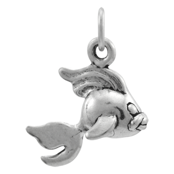 Sterling Silver Fantail Goldfish Charm