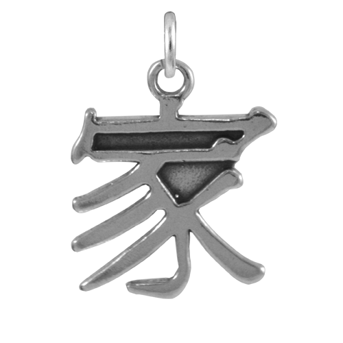 Sterling Silver Chinese Family Charm