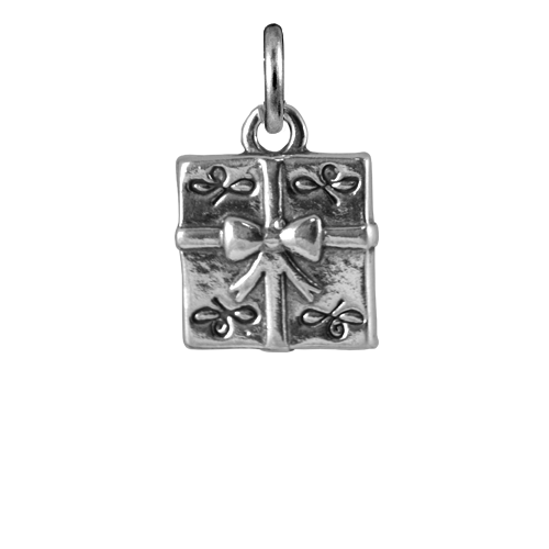 Sterling Silver Christmas Present Charm