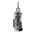 Sterling Silver Post Box Charm