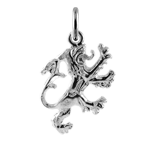 Sterling Silver English Lion Charm