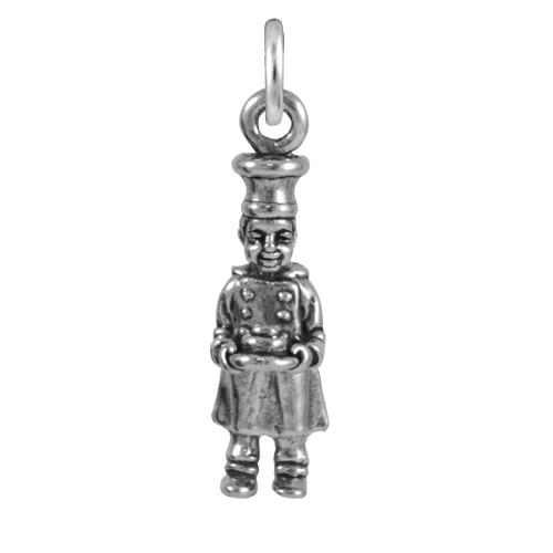 Sterling Silver Chef Charm