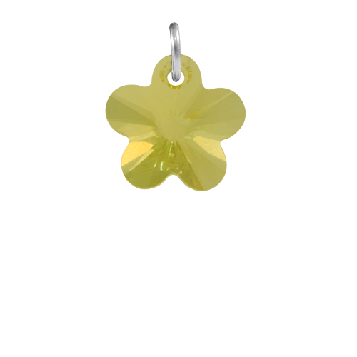 Sterling Silver Jonquil Crystal Flower Charm