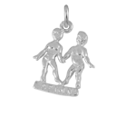 Sterling Silver Gemini Twins Charm