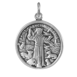 Sterling Silver Saint Francis of Assisi Charm