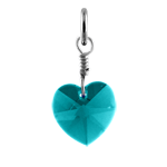 Sterling Silver December Zirconia Crystal Heart