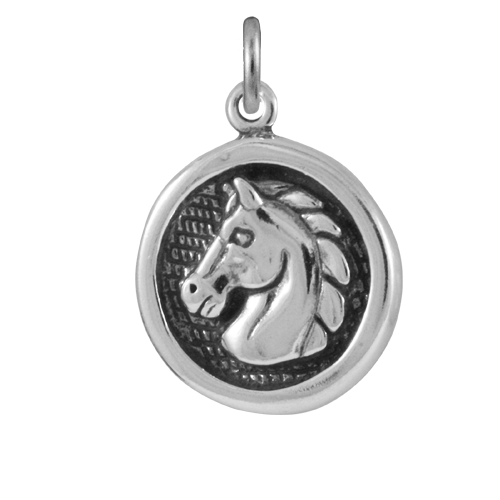 Sterling Silver Horse Medal Charm