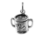 Sterling Silver Baby's Cup Charm