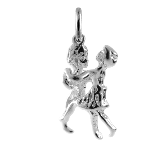 Sterling Silver Dancing Couple Charm