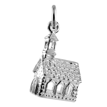 Sterling Silver Church Charm