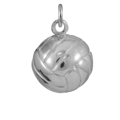 Sterling Silver Volleyball Charm