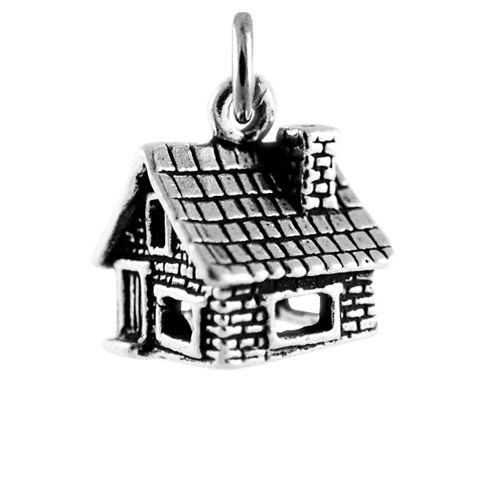 Sterling Silver Stone Cottage Charm