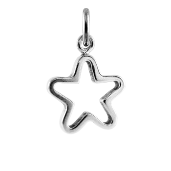 Sterling Silver Hollow Star Charm