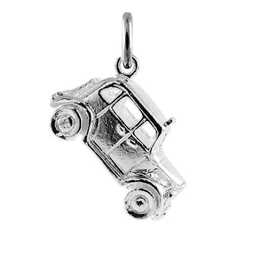 Sterling Silver Hackney Cab Charm