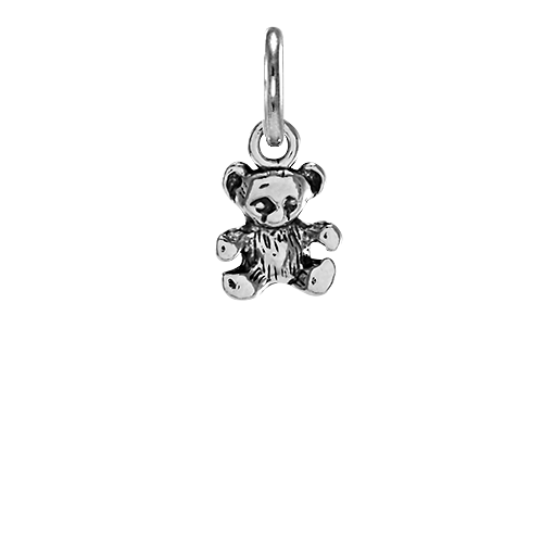 Sterling Silver Small Teddy Bear Charm