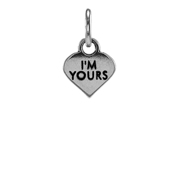 Sterling Silver I'm Yours Heart Charm
