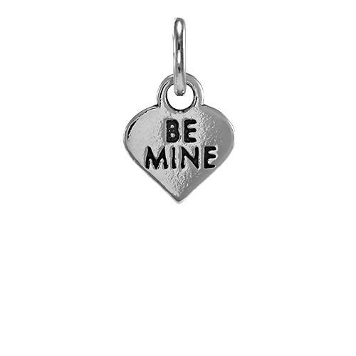 Sterling Silver Be Mine Heart Charm