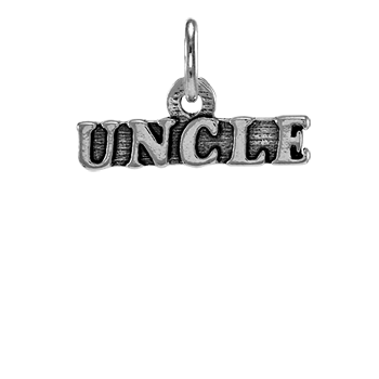 Sterling Silver Uncle Charm