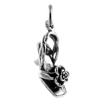 Sterling Silver High Heeled Shoe Charm
