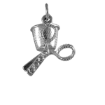 Sterling Silver Scissors and Thimble Charm