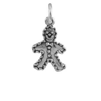 Sterling Silver Gingerbread Man Charm