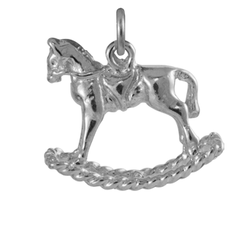 Sterling Silver Large Rocking Horse Charm