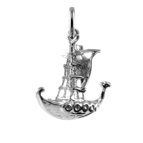 Sterling Silver Viking Longboat Charm