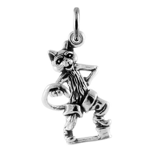 Sterling Silver Puss in Boots Charm
