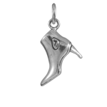 Sterling Silver Low Rise Boot Charm