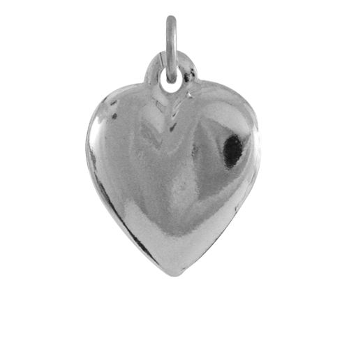 Sterling Silver Hollow Heart Charm