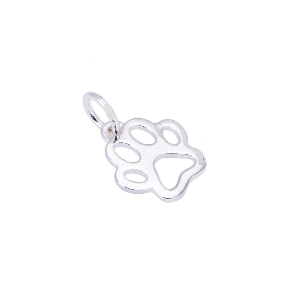 Sterling Silver Pawprint Outline Charm
