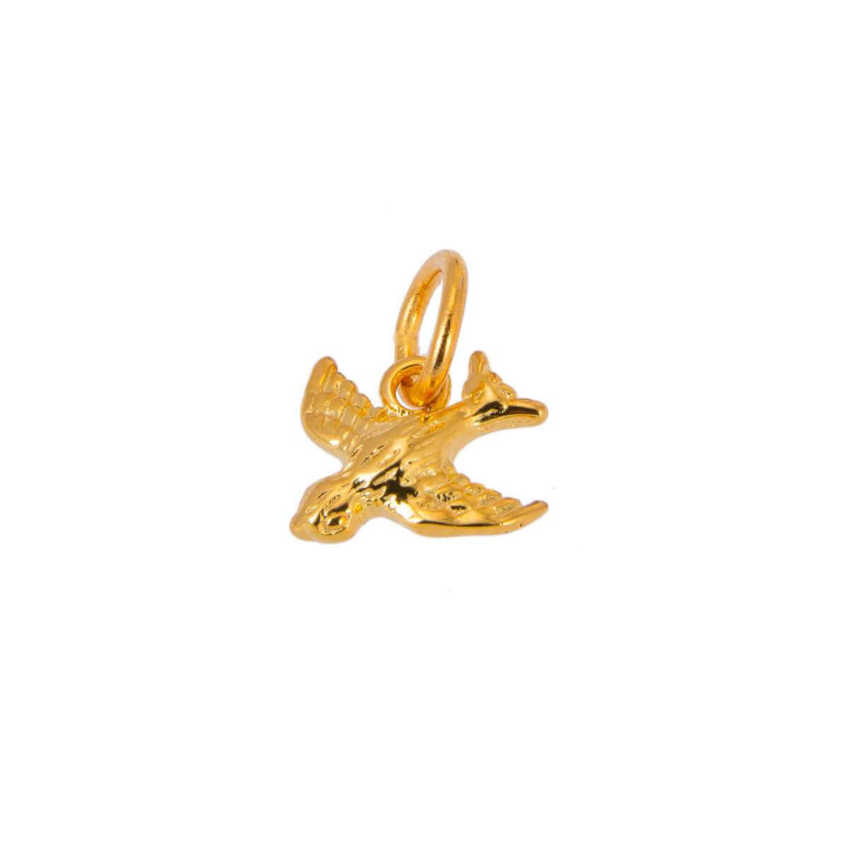 Gold Plated Sterling Silver Swift Bird Charm