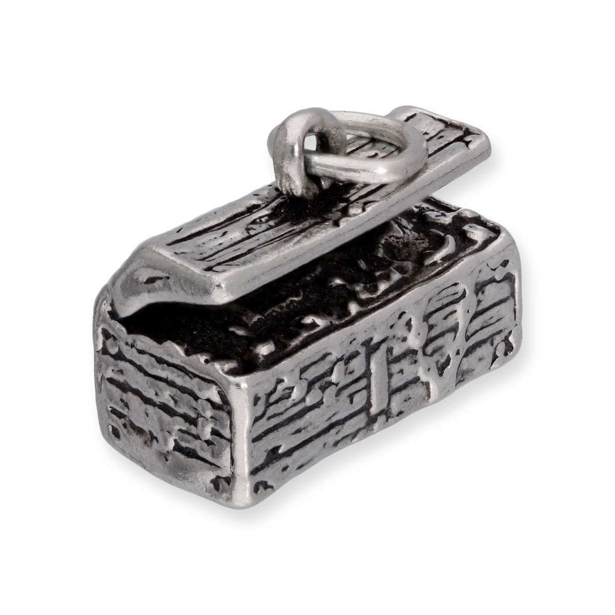 Sterling Silver Open Treasure Chest Charm
