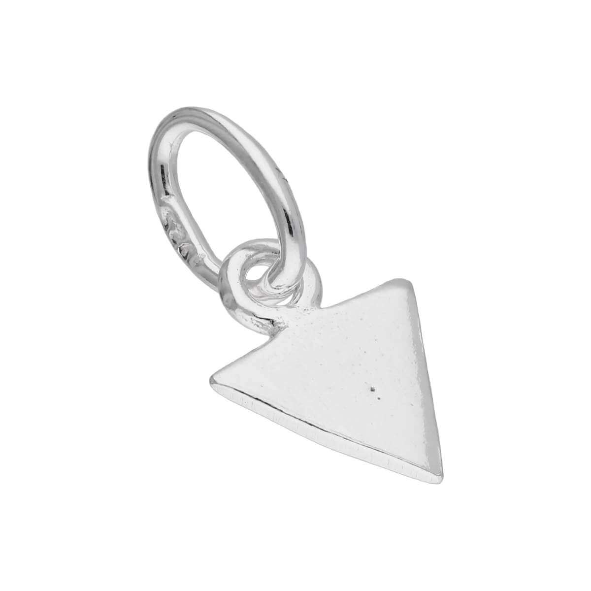 Sterling Silver Flat Triangle Spike Charm