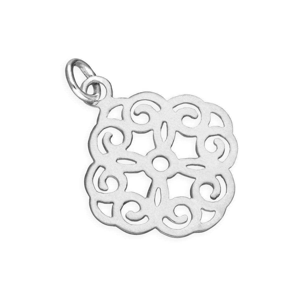 Sterling Silver Large Open Flower Charm