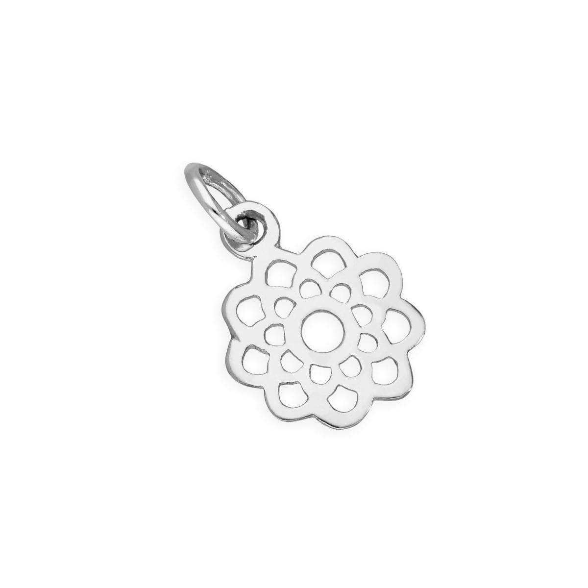 Sterling Silver Open Flower Charm