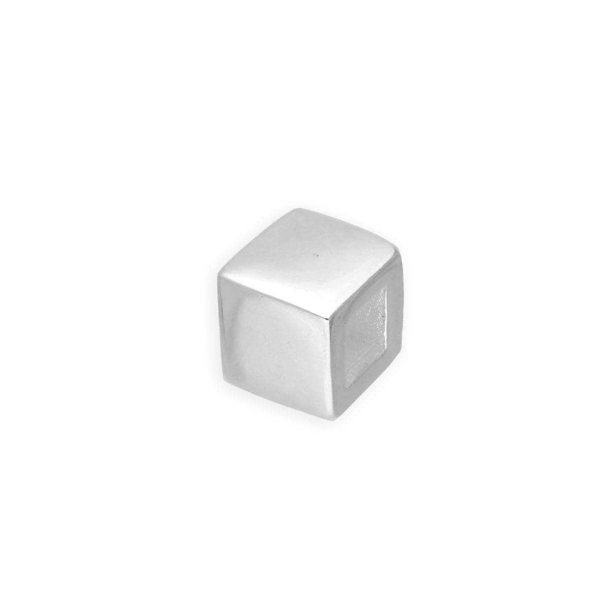 Sterling Silver Cube Bead Charm