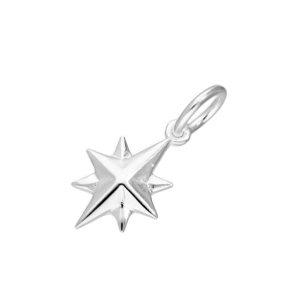 Sterling Silver Northern Star Nativity Charm