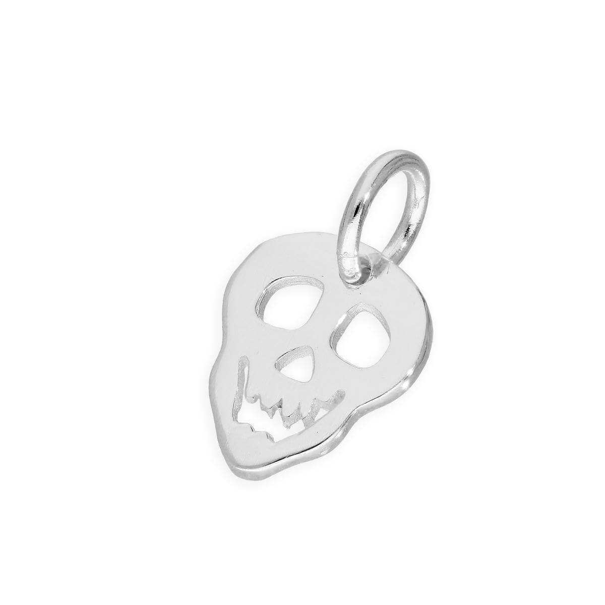 Sterling Silver Smiling Skull Charm