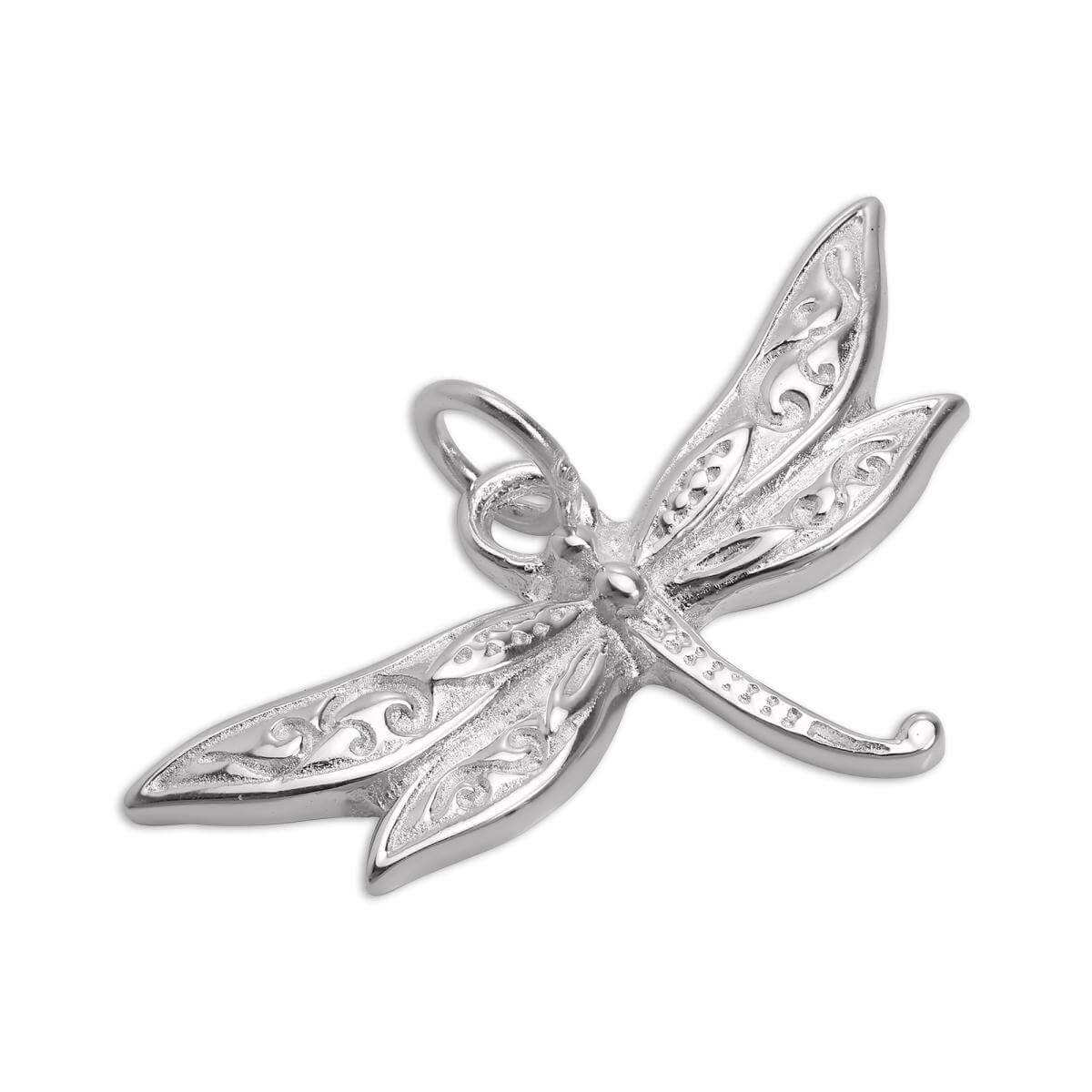 Large Sterling Silver Dragonfly Charm