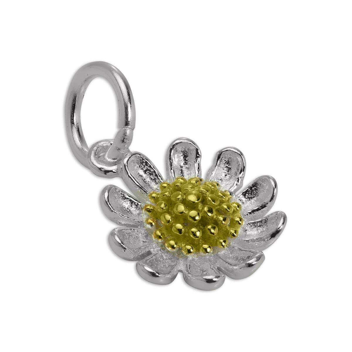 Gold Dipped & Sterling Silver Daisy Flower Charm