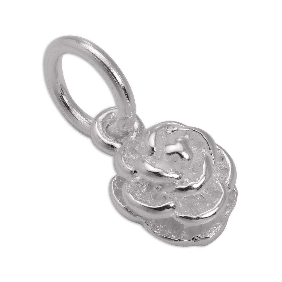 Small Sterling Silver Rose Bud Charm