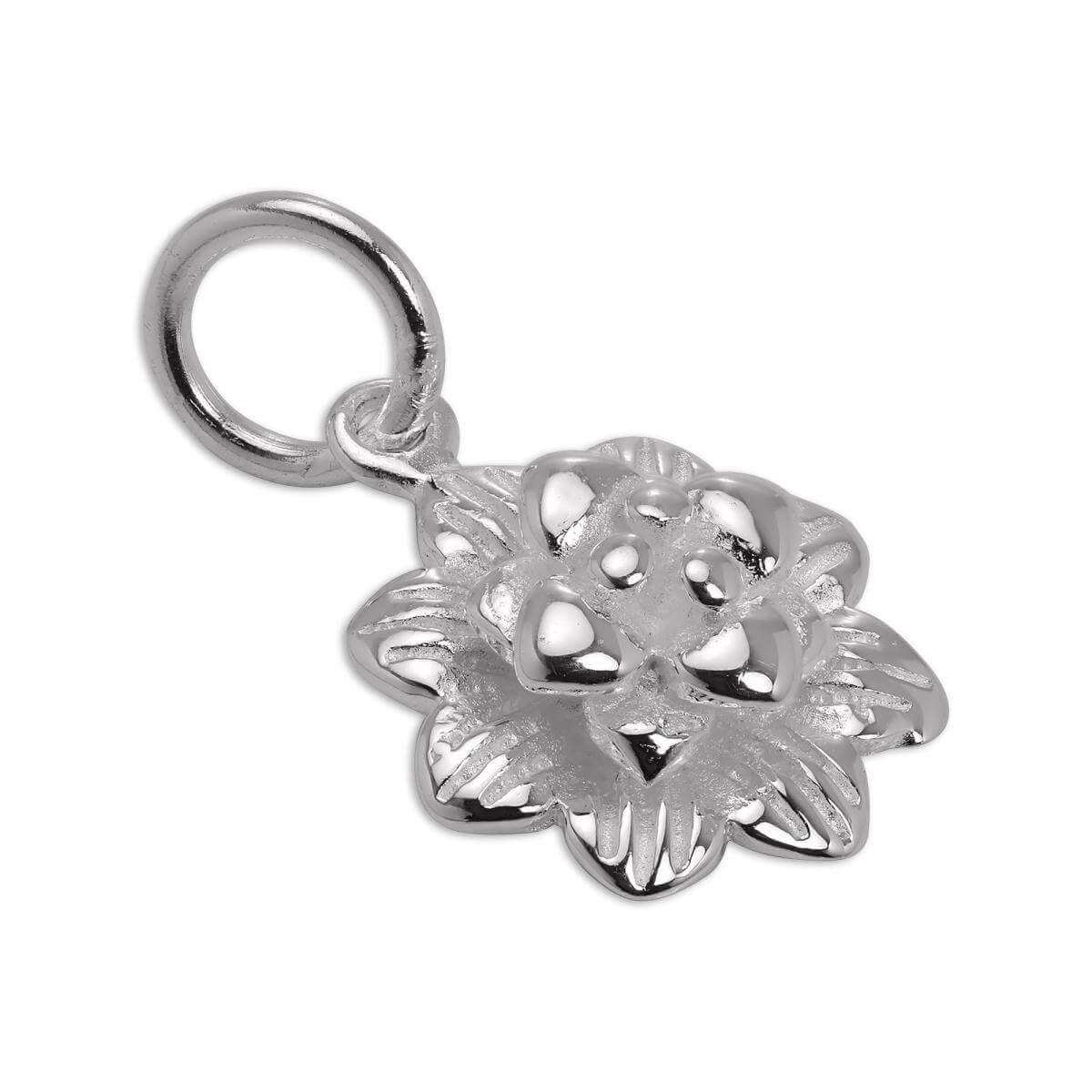 Sterling Silver Flower Head Charm