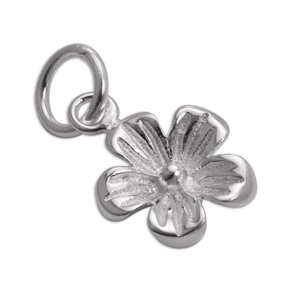 Simple Sterling Silver Flower Charm