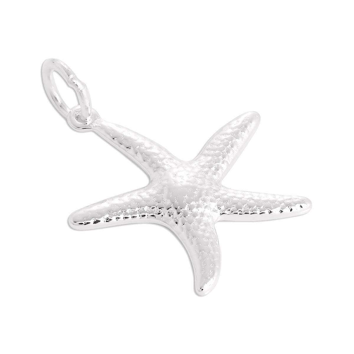 Large Sterling Silver Starfish Charm