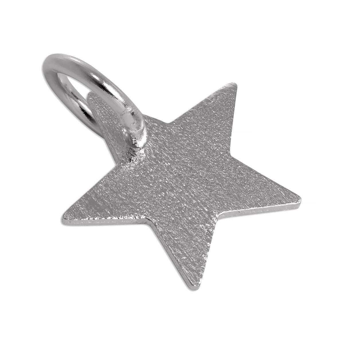 Brushed Sterling Silver Star Charm