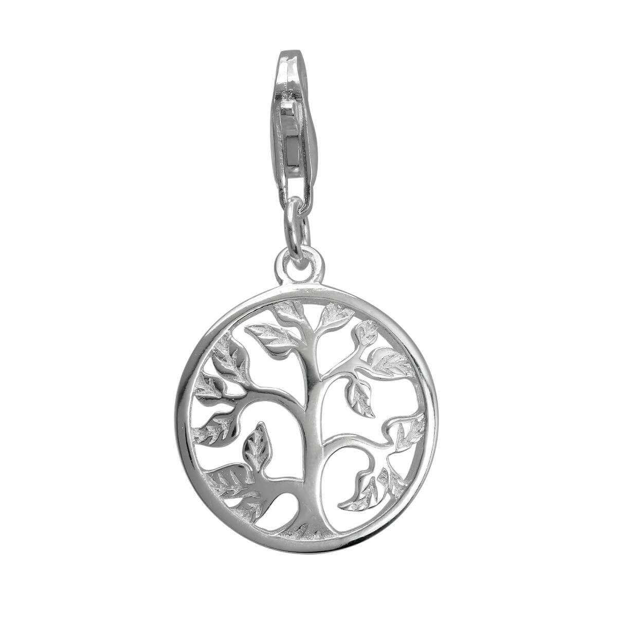 Sterling Silver Tree of Life Clip on Charm