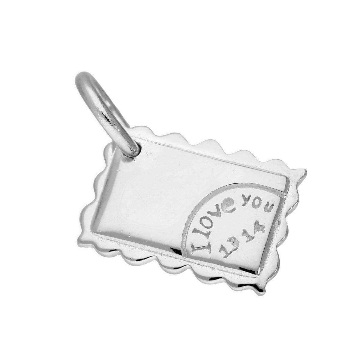 Fancy Sterling Silver I Love You Letter Charm