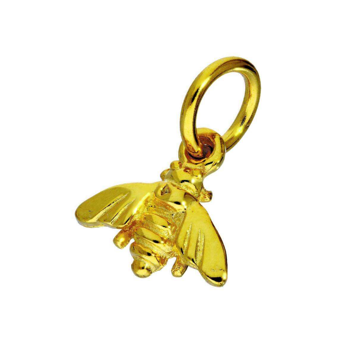 Gold Plated Sterling Silver Bumble Bee Charm