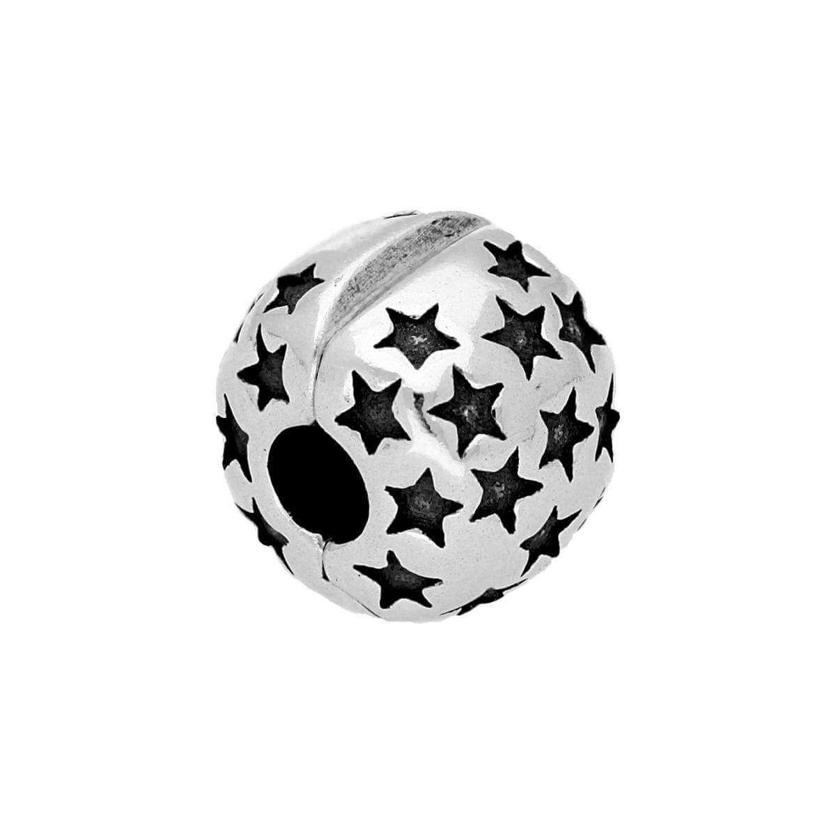 Sterling Silver Star Bead Charm